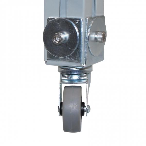 Gummi Lenkrolle - Transportrolle mit Winkelblech