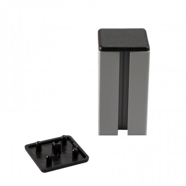 Abdeckung - Abdeckkappe aus  Kunststoff für 40x40 Nut-Profile